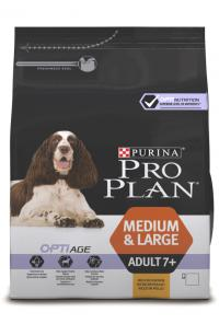 Сухой корм для собак Про План (ProPlan). Для взрослых собак старше 7 лет (7+) курица/рис 14 кг