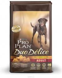Сухой корм для собак Про План (ProPlan). PRO PLAN DUO DELICE для взрослых собак курица/рис 10 кг