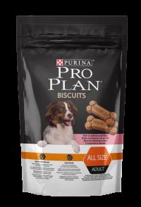 Сухой корм для собак Про План (ProPlan). PRO PLAN Biscuits для собак от 9 месяцев лосось/рис - 400 гр