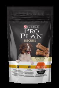 Сухой корм для собак Про План (ProPlan). PRO PLAN Biscuits Light для стерилизованных собак и собак, склонных к избыточному весу курица/рис - 400 гр